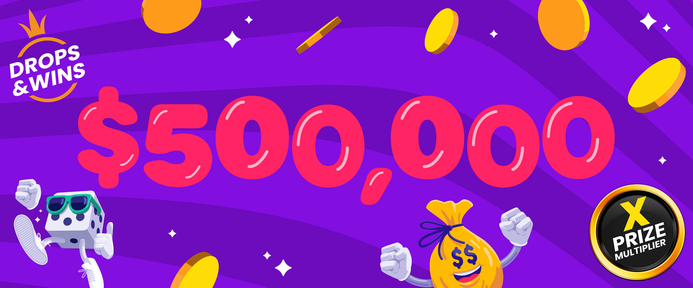Pragmatic 社の Drops & Winが倍の総額5000万円に!