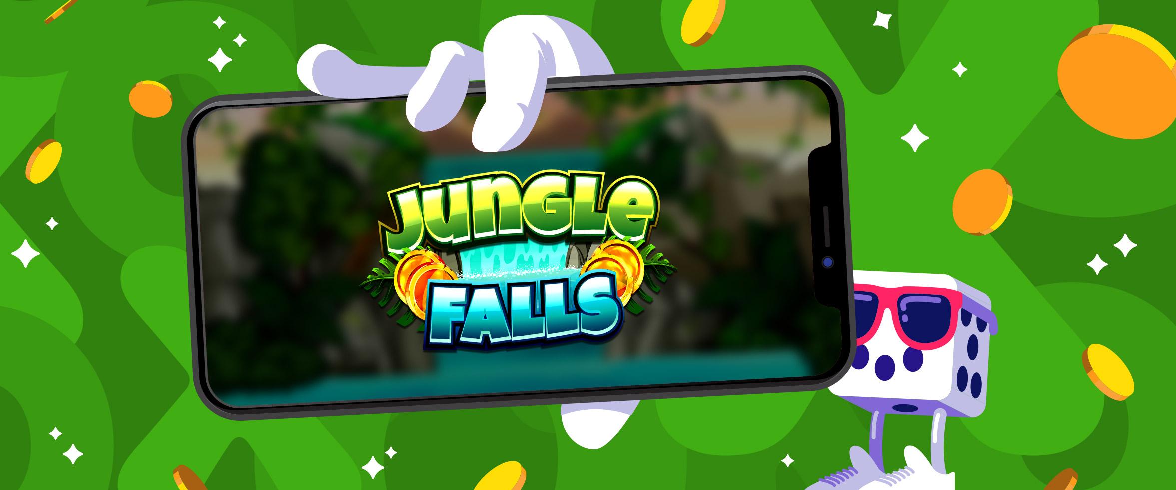 Prøv det eksklusive nye spillet Jungle Falls med Dobbel Hastighet