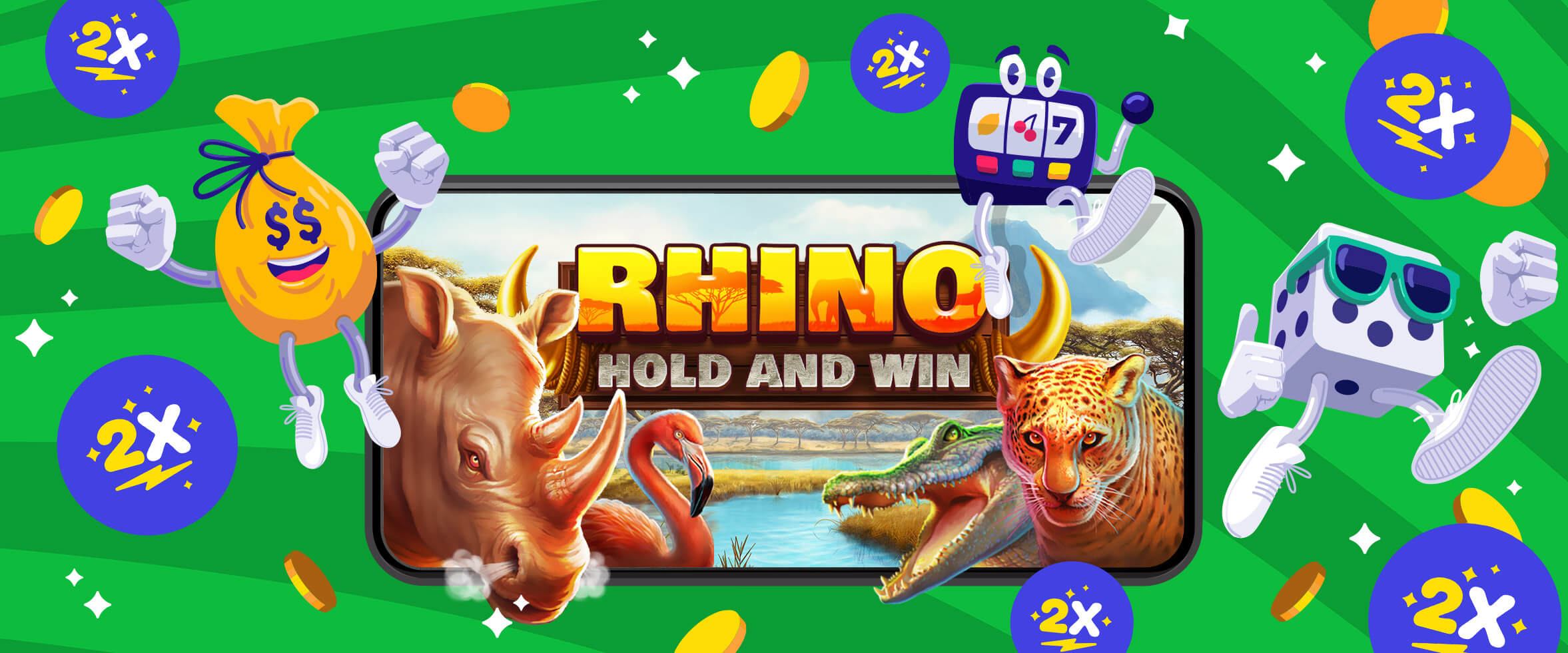 🦏 Double Vitesse sur Rhino Hold and Win 🦏